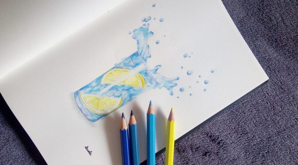 Rysunek kropli wody