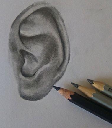 Jak krok po kroku narysować ucho?