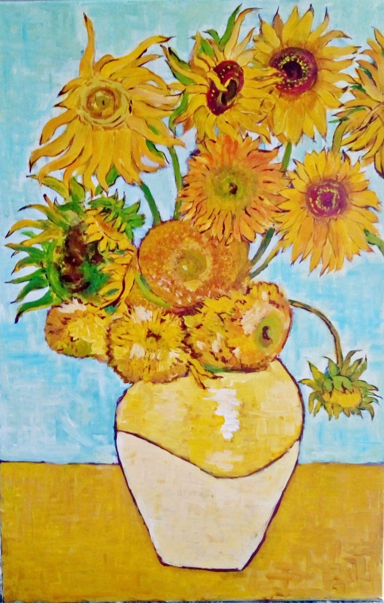 Jak namalować Słoneczniki van Gogha? [TUTORIAL]