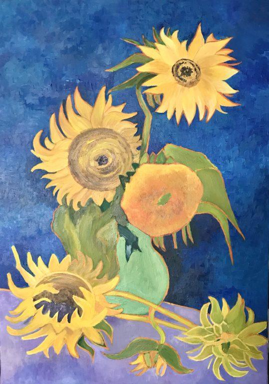 Wazon z pięcioma Słonecznikami Vincent van Gogh