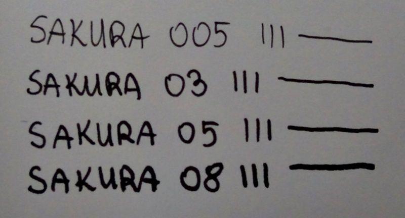 czarne cienkopisy sakura micron