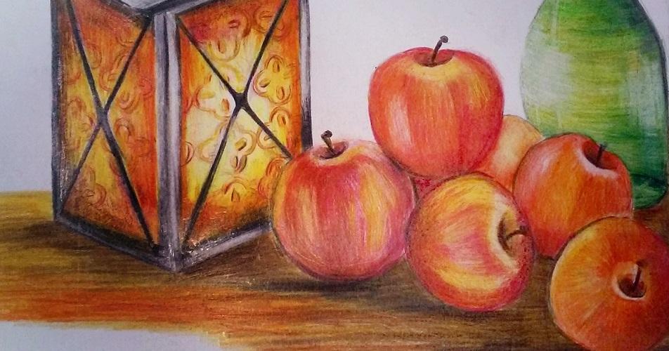 jabłka rysunek