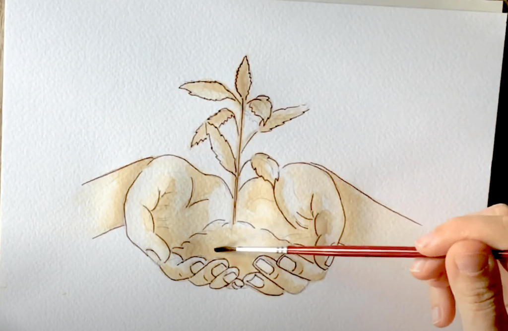 malowanie herbatą