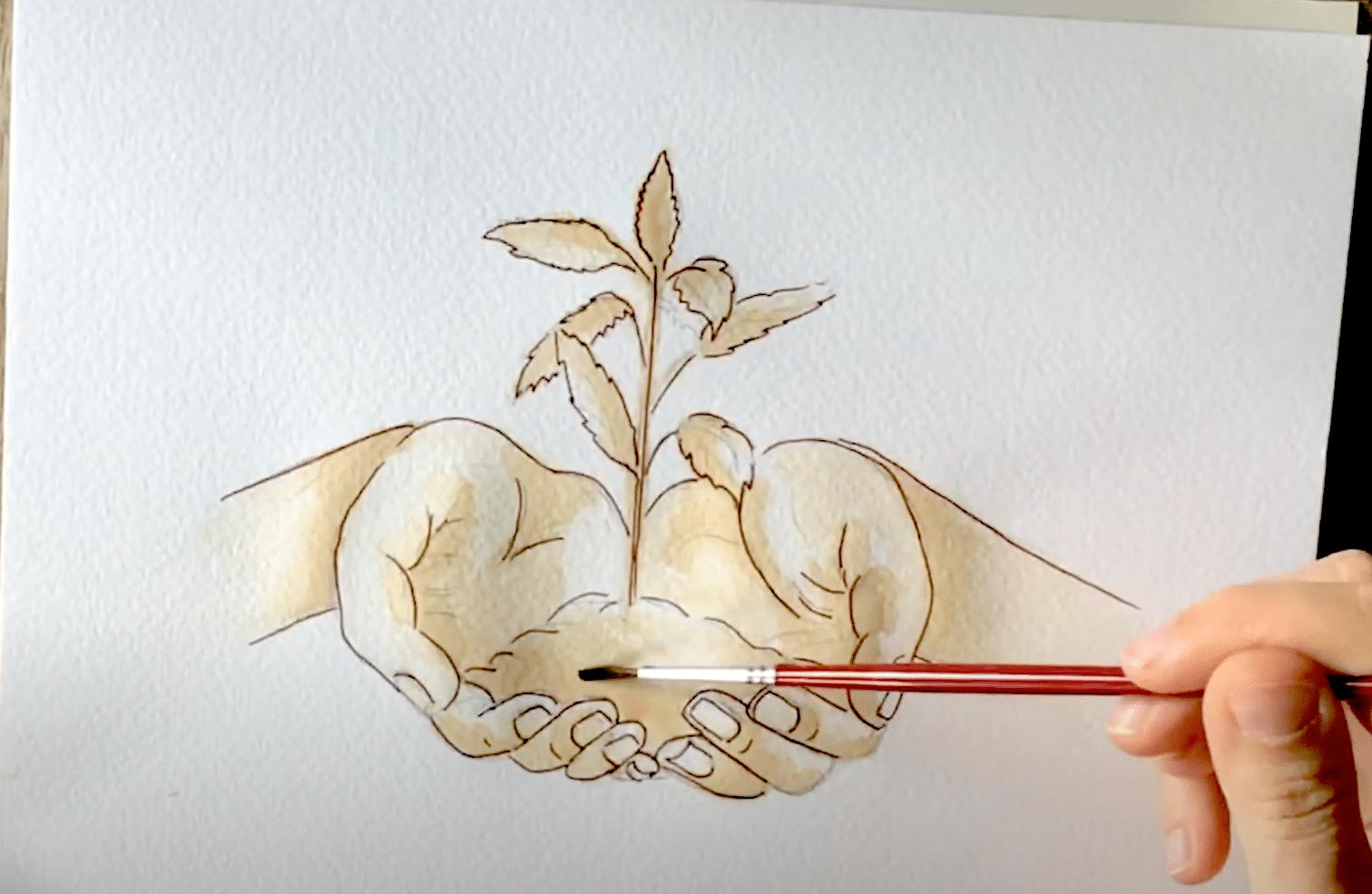 jak malować herbatą
