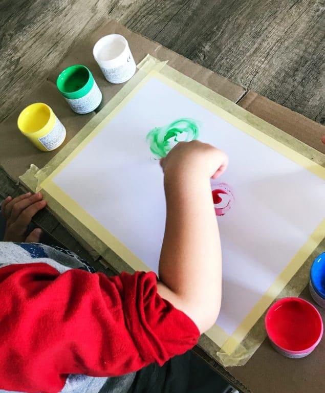 jak malować palcami