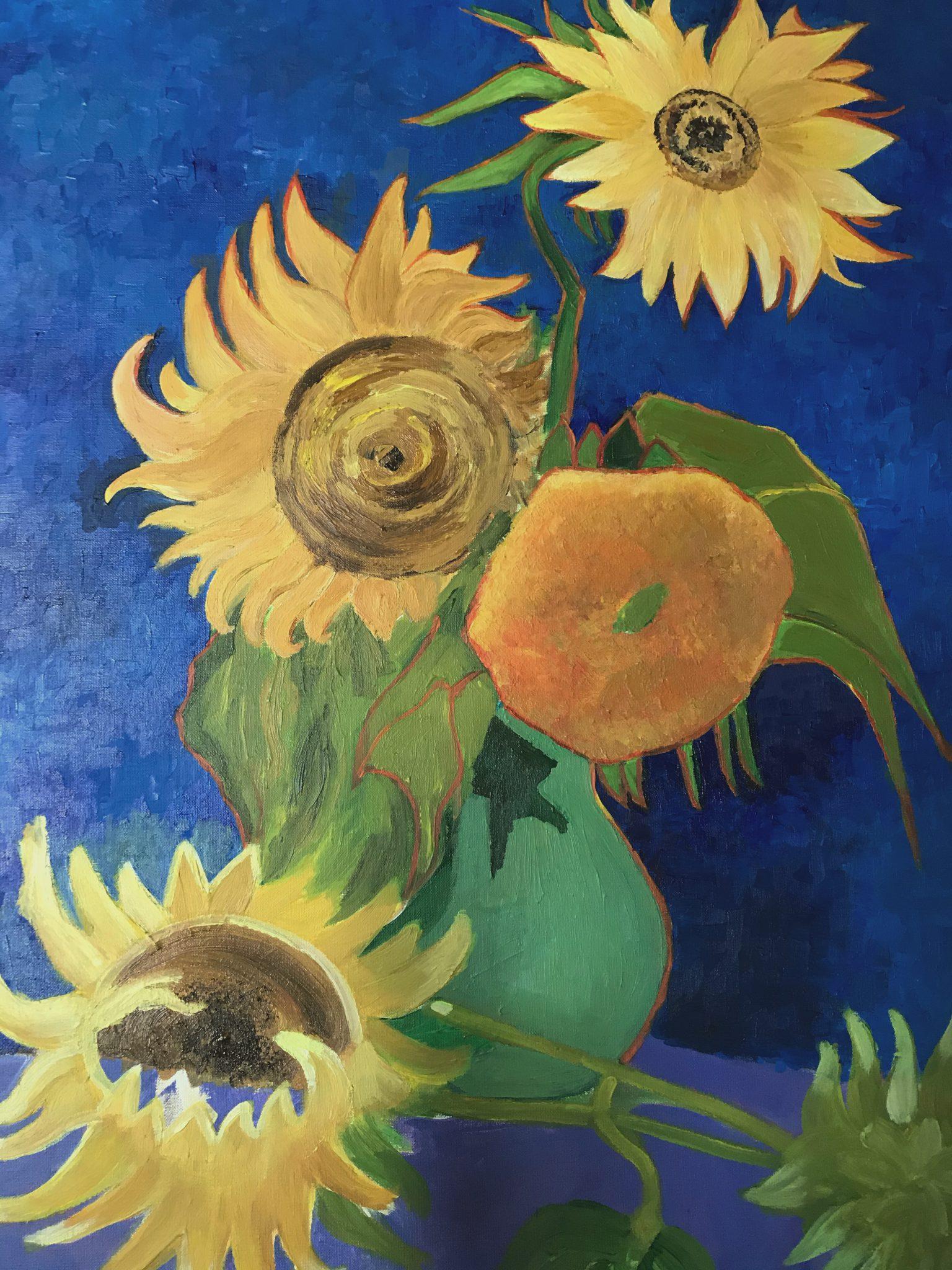 jak namalować słoneczniki van gogha