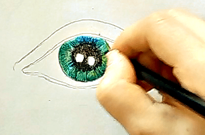 jak narysować oko 3