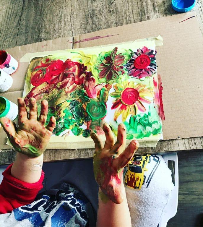 malowanie palcami i raczkami