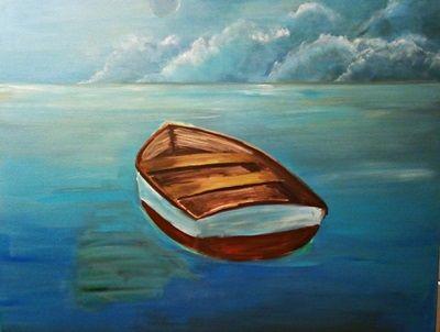 obraz łódki malarstwo