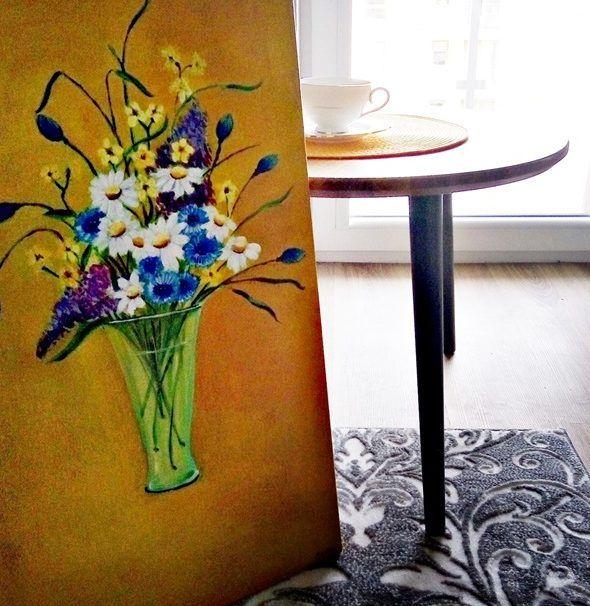 Obrazy dekoracyjne do mieszkania – malowane kwiaty