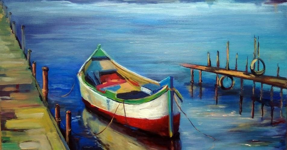 Mój pierwszy obraz malowany w pracowni w Lublinie.