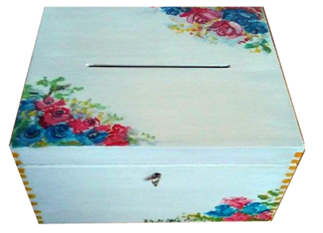 pudełko na koperty weselne realizacja